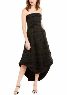 C/Meo Collective Women's Solitude Strapless High Low Fit and Flare Party Dress  L