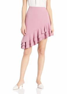 C/MEO COLLECTIVE Women's Temptation Asymmetrical Ruffle Short Mini Skirt  m
