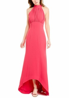 C/Meo Collective Women's Willing Sleeveless Halter Empire Hi-Lo Long Maxi Gown Dress  S