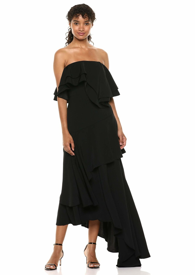 C/MEO COLLECTIVE Women's with You Strapless Ruffle Top Maxi Gown Dress  l