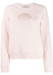 Coach logo embroidered sweatshirt