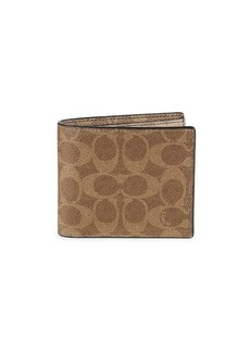 Coach 3-In-1 Signature Coated Canvas & Leather Colorblock Wallet