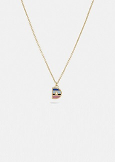 Coach 80's retro alphabet d charm necklace