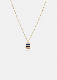 Coach 80's retro alphabet e charm necklace