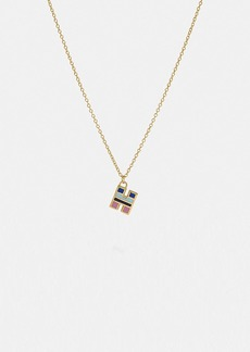 Coach 80's retro alphabet h charm necklace