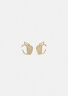 Coach apple hoop earrings