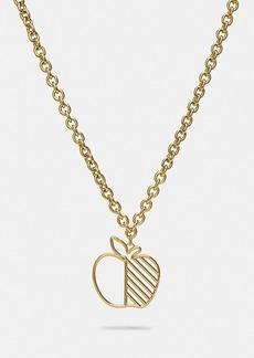 Coach apple statement necklace