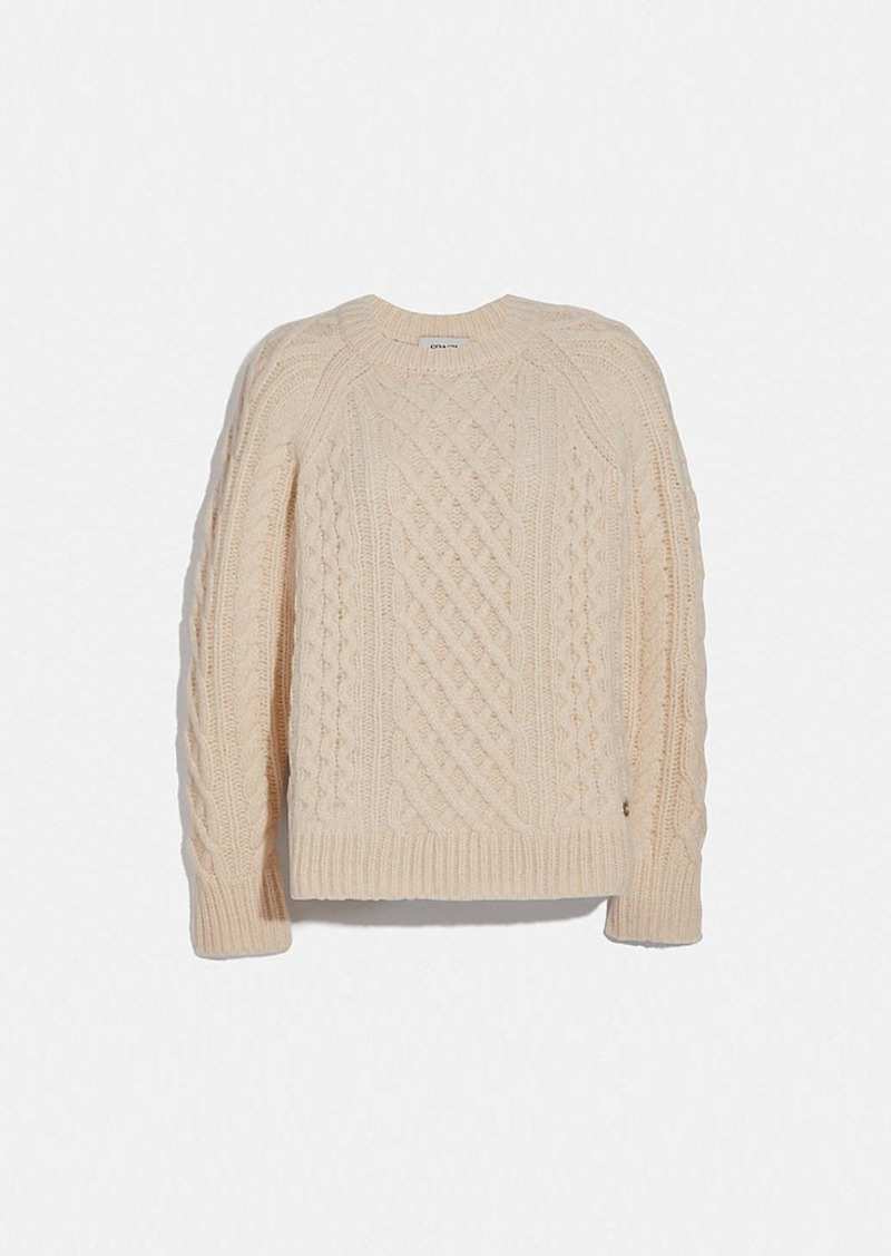 Coach aran crewneck sweater
