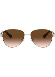 Coach aviator frame sunglasses