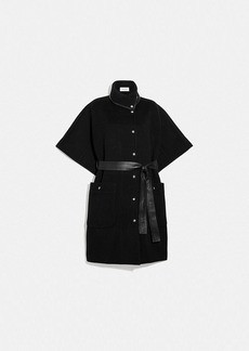Coach double face belted cape