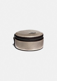 Coach round jewelry case