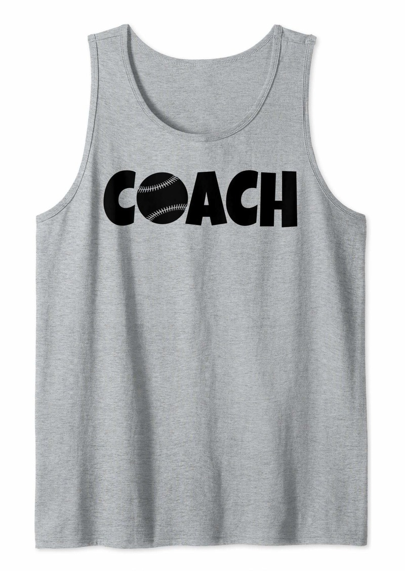Baseball Coach Lead Mentor Coaching  Tank Top