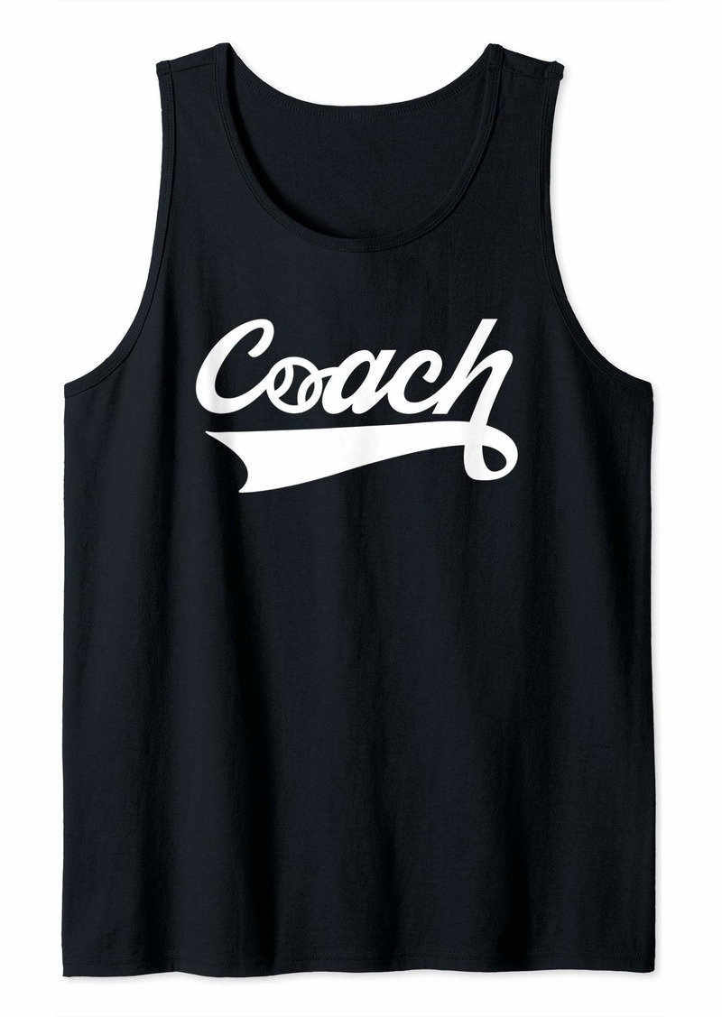 Coach Baseball Design for Base Ball Lovers Tank Top