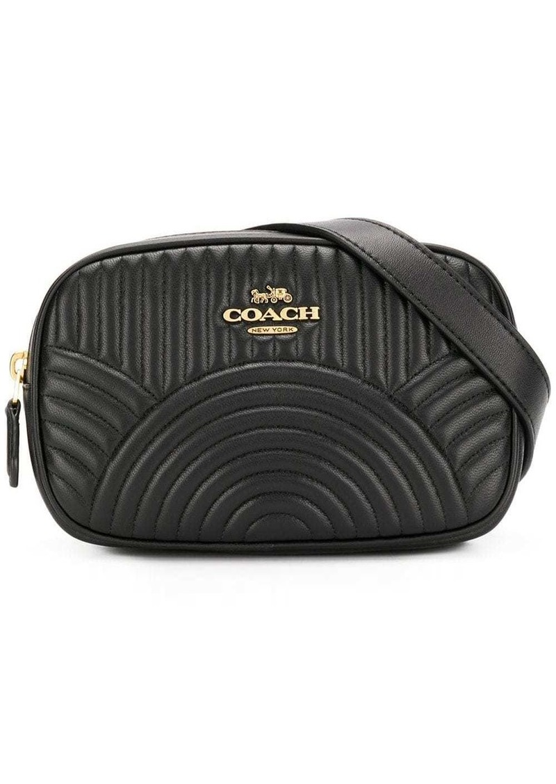 Coach belt bag with deco quilting