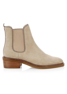 Coach Bowery Bead Studded Suede Booties