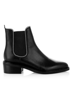 Coach Bowery Bead-Trim Leather Chelsea Boots