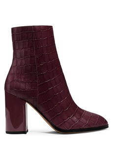 Coach Brielle Croc-Embossed Leather Ankle Boots