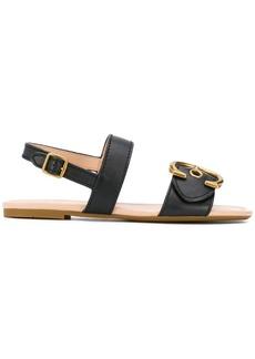 Coach buckle strap sandals