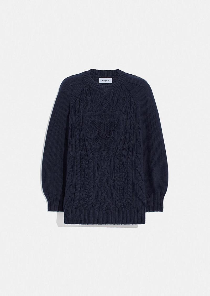 Coach butterfly aran sweater
