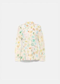 Coach button up blouse