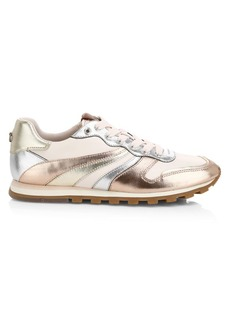 Coach C118 Metallic Leather Sneakers