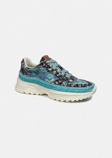 Coach c143 espadrille runner with mix sleepy rose print