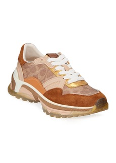 Coach C143 Signature Leather Dad Sneakers