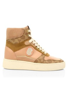 Coach C220 CC Leather High-Top Sneakers