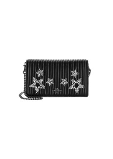Coach Callie Embellished Quilted Leather Chain Clutch