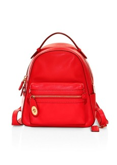 Coach Campus Polished Pebbled Leather Backpack