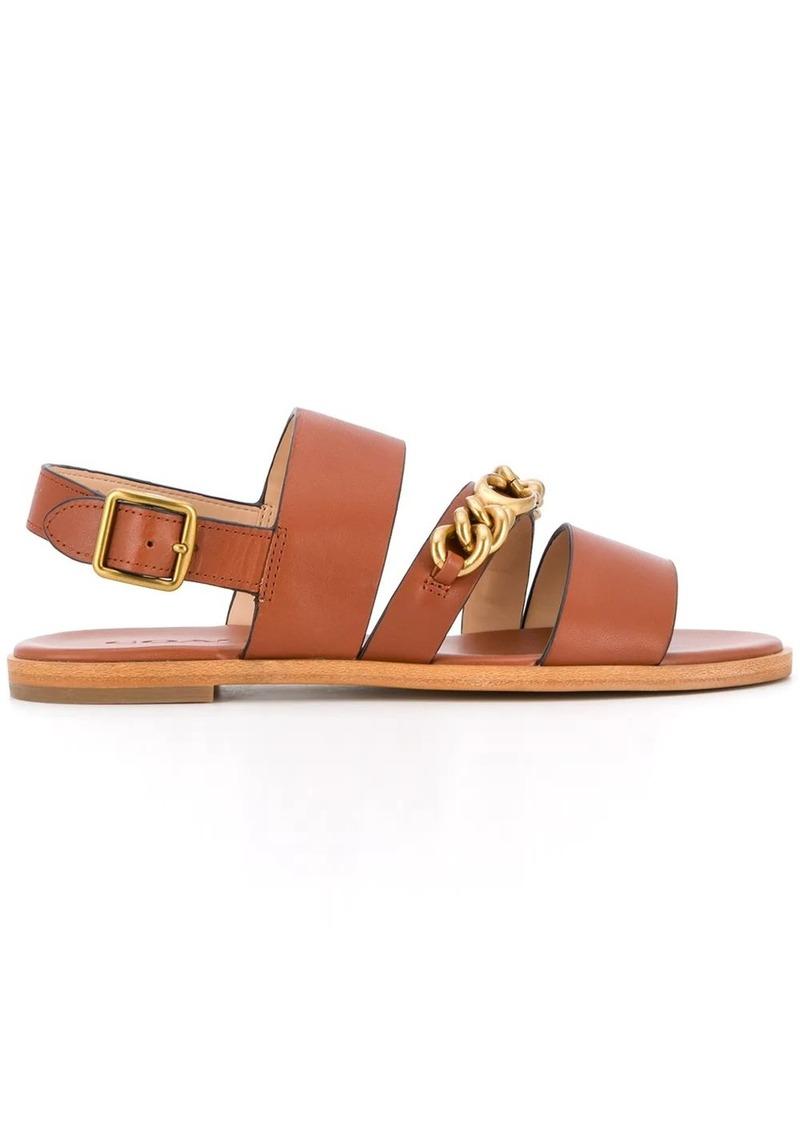 Coach chain-logo sandals