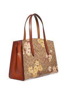 Coach Charlie Prairie Coated Canvas Satchel Bag