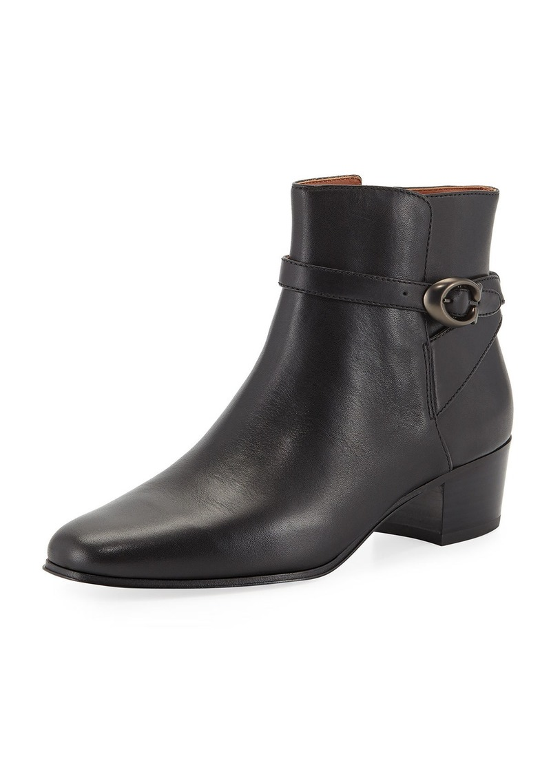 Coach Chrystie Buckle Ankle Boots