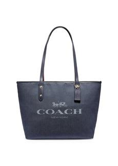 Coach City Leather & Jacquard Tote