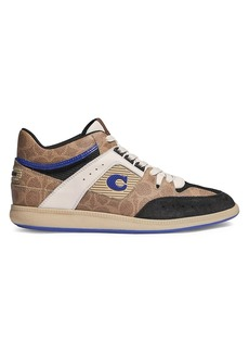 Coach CitySole Signature Canvas & Leather Mid-Top Sneakers