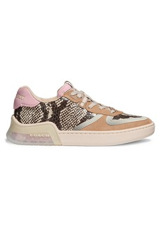 Coach CitySole Sneakeskin-Embossed Leather & Suede Court Sneakers