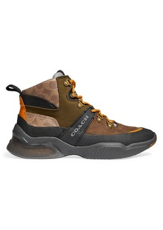 Coach CitySole Suede & Leather Hiker Boots