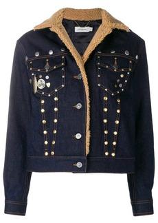 Coach shearling denim jacket