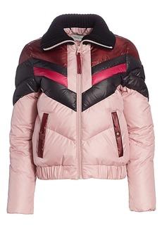 Coach 1941 Chevron Colorblock Down Puffer Ski Jacket