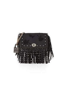 Coach 1941 Dinky Floral Embroidery Fringe Shoulder Bag