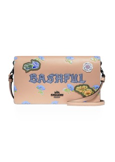 DISNEY X COACH Bashful Fold-Over Crossbody Clutch Bag