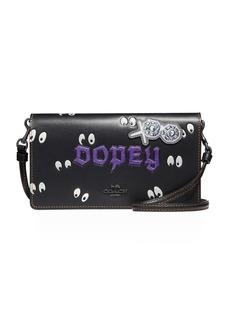 DISNEY X COACH Dopey Fold-Over Crossbody Clutch Bag