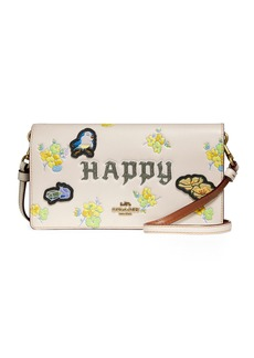 DISNEY X COACH Happy Fold-Over Crossbody Clutch Bag