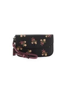 Coach 1941 Floral-Print Leather Wristlet Clutch Bag