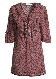 Coach 1941 Floral Ruffled Glam Rock Tunic Dress