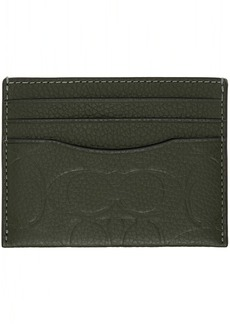 Coach 1941 Green Leather Signature Card Holder