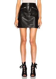 Coach 1941 Leather Mini Skirt