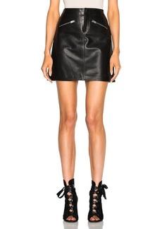Coach 1941 Leather Mini Skirt