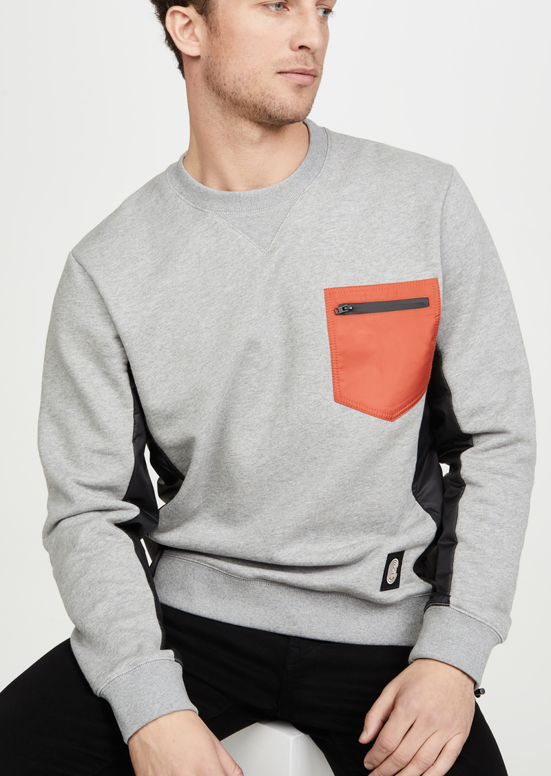 Coach 1941 Nylon Pocket Crew Neck Sweatshirt