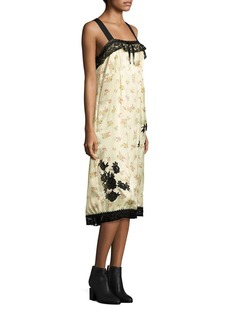 COACH 1941 Pleated Floral-Print Slip Dress